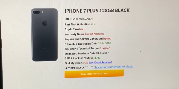 Check iMei iCloud iPhone